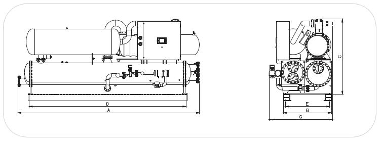 sơ đồ máy làm lạnh nước ngập dịch KuenLing KLFW/ R-22